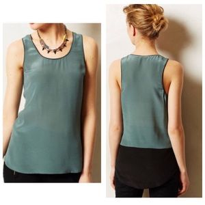 Anthro Maeve Silk Tank Top, Sz 4